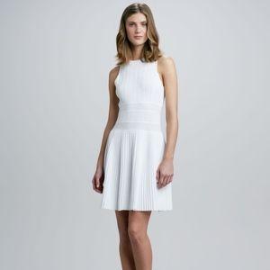 Theory Chloh White Ribbed Dress Size P